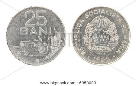 25 Bani - Romanian Money
