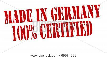 Made In Germany One Hundred Percent Certified