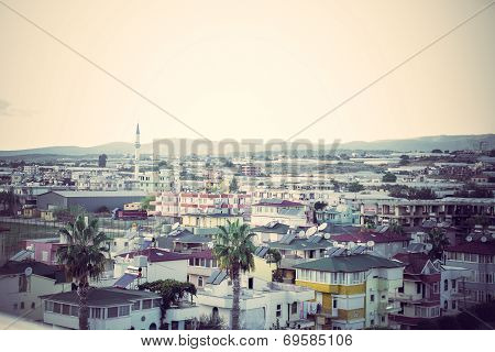 View Of Konakli City. Toning In Vintage