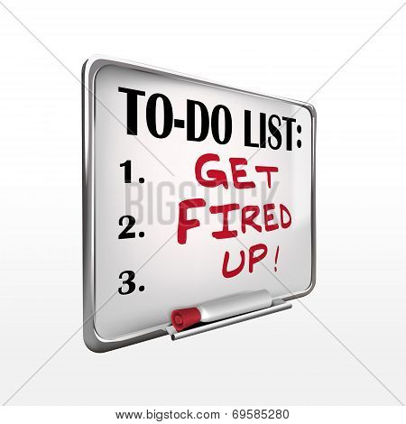 Get Fired Up On To-do List Whiteboard
