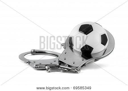 Soccerball In Handcuffs