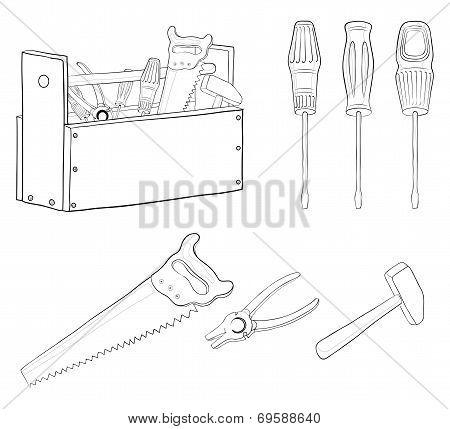 Tools, contours, set