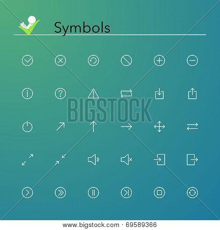 Symbols Line Icons