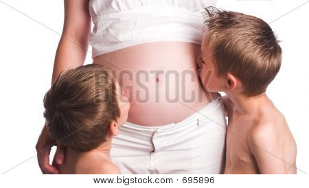 Boys And Moms Belly