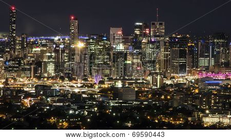 Brisbane Cityscape from Mt Coot-tha