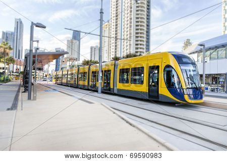 Gold Coast G:link Light Rail. TILT SHIFT