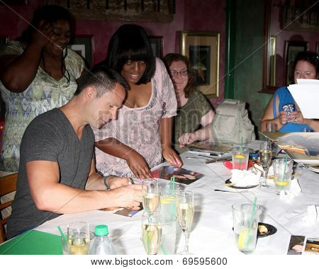 LOS ANGELES - AUG 1:  William deVry, fans at the William deVry Fan Club Event at the California Canteen on August 1, 2014 in Los Angeles, CA