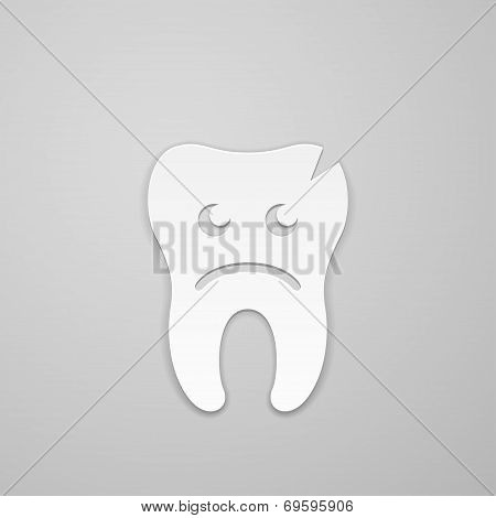 Sad Tooth Whith Fissure