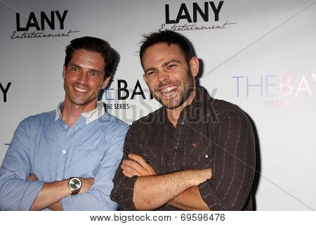 LOS ANGELES - AUG 4:  Scott Bailey, David Lawrence at the