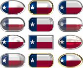 image of texas flag  - twelve Great buttons of the Flag of Texas - JPG