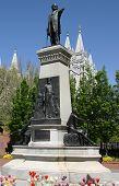 Brigham Young Statue In Salt Lake City, Utah poster