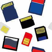 picture of micro-sim  - An Illustration of Selection of Memory and SIM Cards - JPG