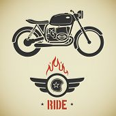Постер, плакат: Retro motorcycle
