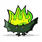 stock photo of vampire bat  - cartoon spooky vampire bat - JPG