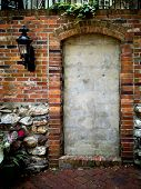 stock photo of entryway  - a once used entry that could be used for text - JPG