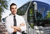 image of bus driver  - Portrait of a bus driver - JPG