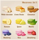 stock photo of flavor  - Colorful cookies with different flavors and fillings - JPG