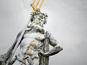 stock photo of poseidon  - An image of a nice Neptune statue - JPG