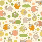 foto of counting sheep  - Sheep and wolf  - JPG