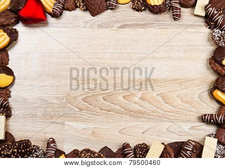 Valentine's Day Chocolate Biscuit's Background