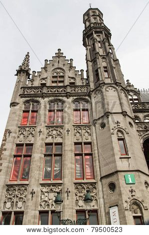 Detail Of Provincial Palace, Bruges Including Tower.