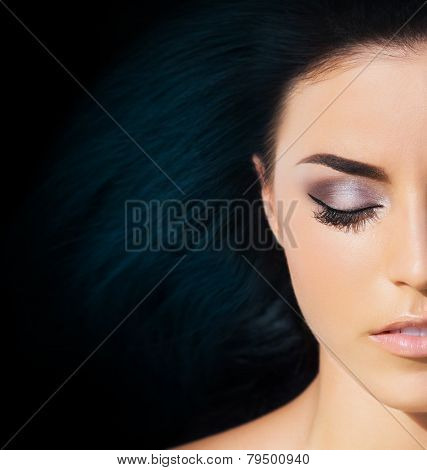 Spa portrait of young and beautiful girl. Complexion and hairstyle concept.