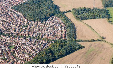 Suburban Sprawl Near Luton, England