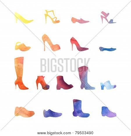 Color Set Of Different Shoes