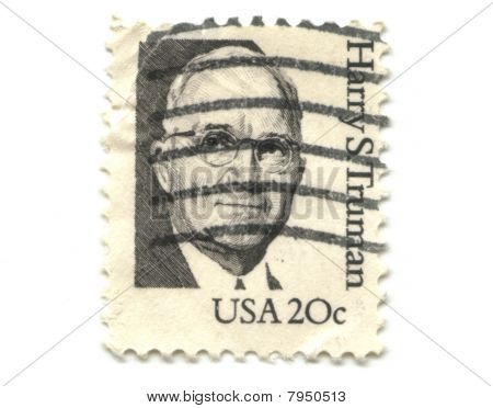 Old Postage Stamp From Usa 20 Cent