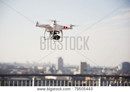 Drone Prepared For Flight
