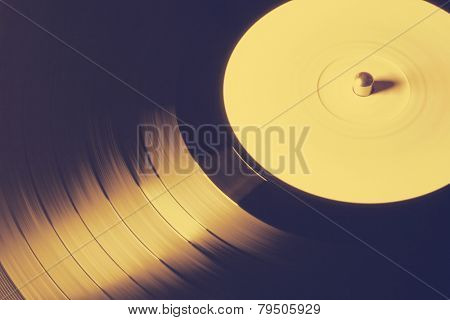Old vinyl record, retro film filtered, instagram style