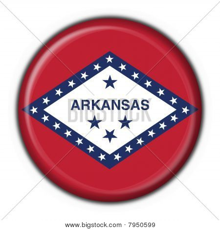 Arkansas (usa State) Button Flag Round Shape