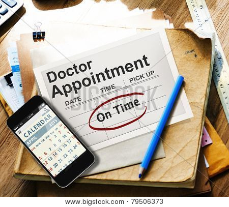 Doctor Appointment Calendar Meeting Event On Time Concept