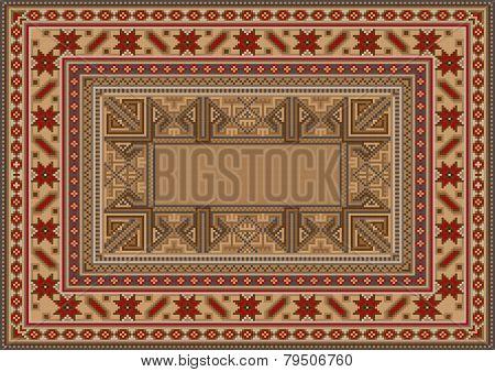 luxurious oriental rug with original pattern