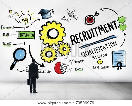 Businessman Recruitment Searching Qualification Worker Concept