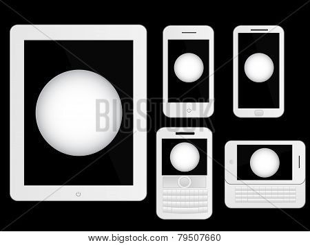 Mobile Devices With Ping Pong Ball White