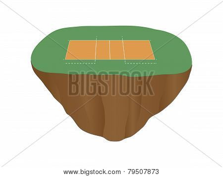 Volleyball Court Floating Island 2