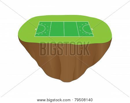 Hockey Field Court Floating Island 1