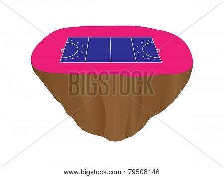 Hockey Field Court Floating Island 2