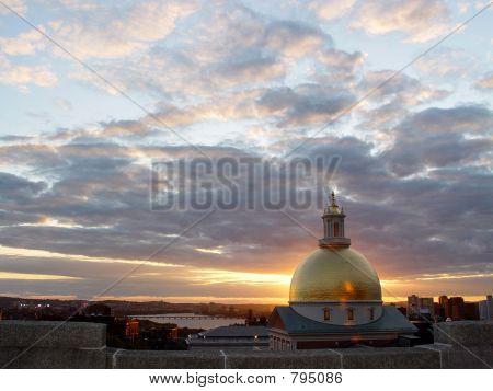 Statehouse Dome at Sunset