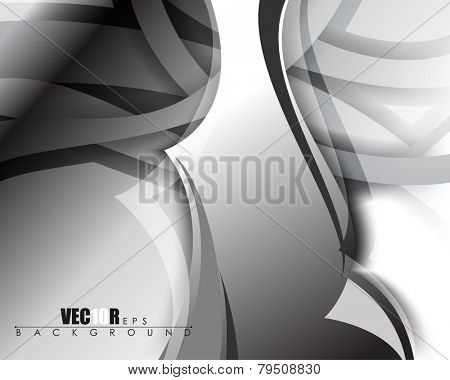 eps10 vector abstract chrome metallic background illustration