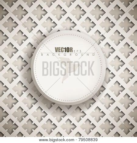 eps10 vector origami pattern vintage old plate frame background design