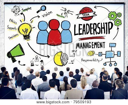 Diversity Business People Leadership Management Seminar Concept