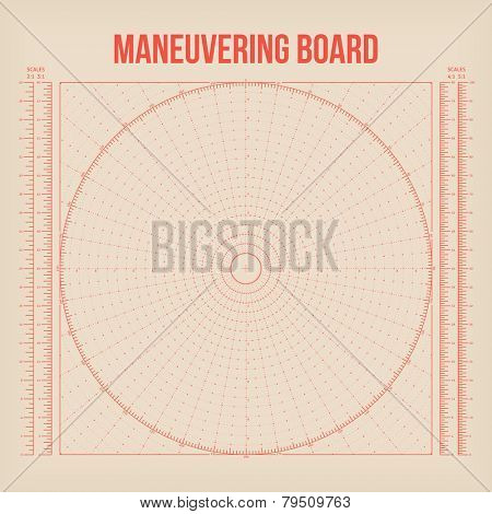 Maneuvering Board. Vector