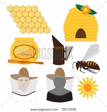 Beekeeping vector Set