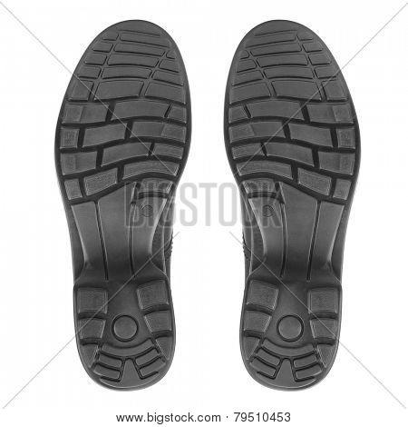 sole of shoe isolated on white background