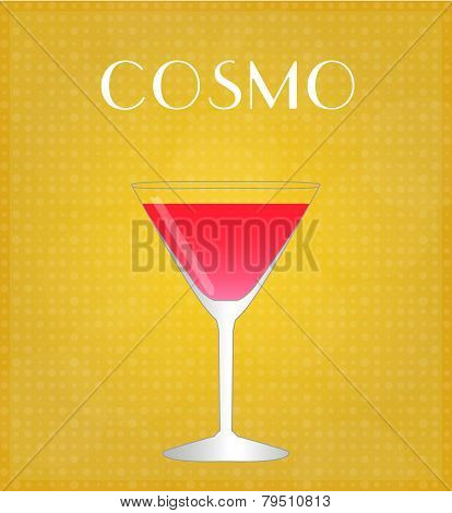 Drinks List Cosmopolitan With Golden Background