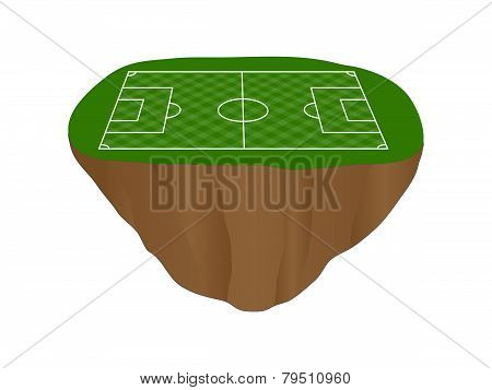 Football Field With Diagonal Pattern Floating Island
