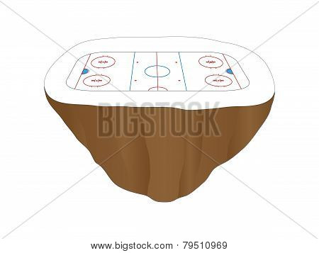 Hockey Rink Floating Island