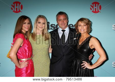 LOS ANGELES - JAN 5:  Andrea Savage, Mircea Monroe, Matt LeBlanc, Kathleen Rose Perkins at the Showtime Celebrates All-New Seasons Comedies at Cecconi's on January 5, 2014 in West Hollywood, CA